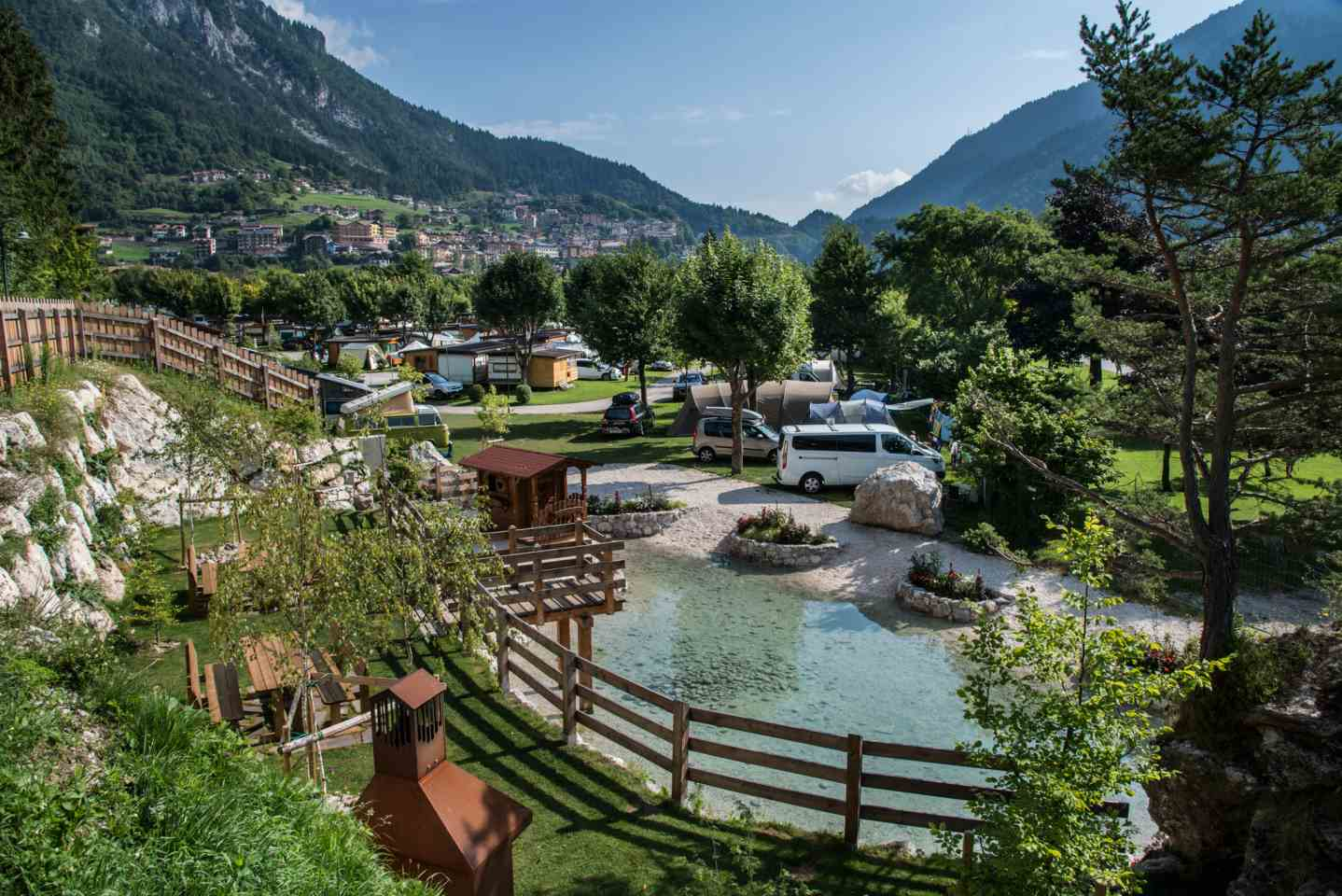 <b>Zona giorno bungalow</b>